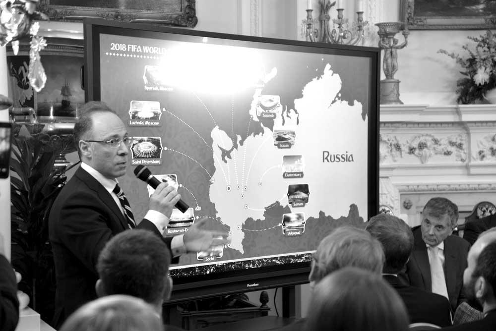 Russian Embassy hosts FIFA 2018 World Cup presentation